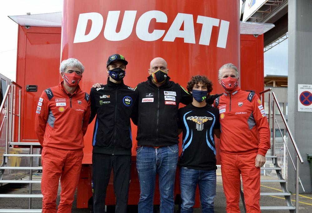 Motogp Official Bastianini And Marini With Ducati And The Avintia Team In 2021 Gpone Com